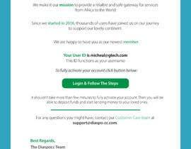 Nro 50 kilpailuun Welcome E-Mail Design - UI/UX Designer käyttäjältä GutsTech