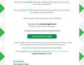Nro 51 kilpailuun Welcome E-Mail Design - UI/UX Designer käyttäjältä GutsTech