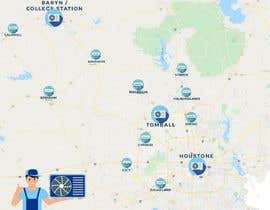nº 47 pour Need Graphic of Service Area Map par Fxxabir