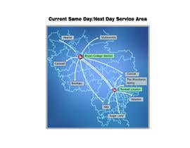 nº 12 pour Need Graphic of Service Area Map par JihyungKim