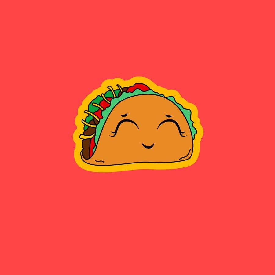 Kilpailutyö #23 kilpailussa Design a unique transparent taco sticker for a label