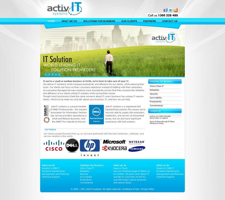 Inscrição nº                                         33                                      do Concurso para                                         Website Design for activIT systems