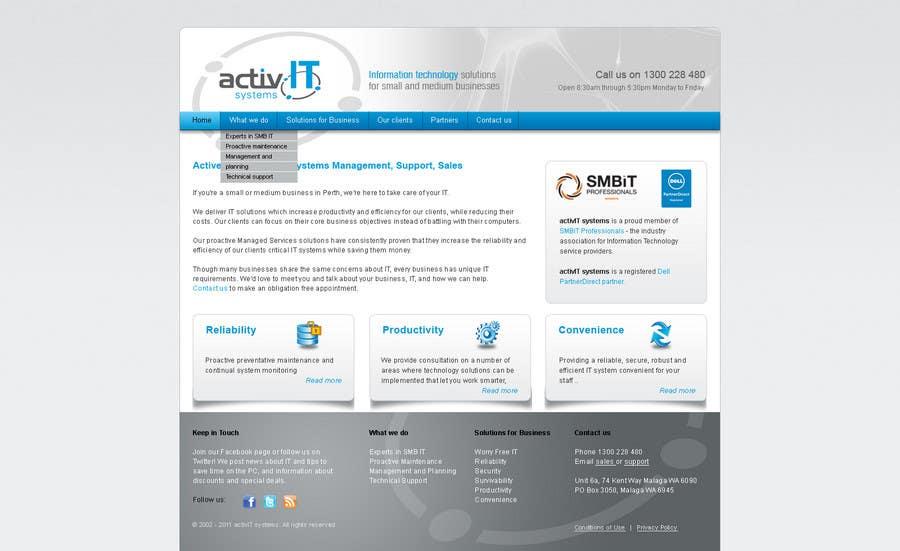 Inscrição nº                                         27                                      do Concurso para                                         Website Design for activIT systems