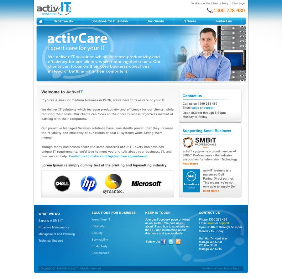 Proposition n°39 du concours Website Design for activIT systems
