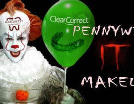 #5 for Use my face on Pennywise the clowns using our logo as the mark on our face. With green balloon that has ClearCorrect on it. af NaufalJundi19