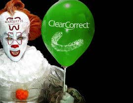#8 untuk Use my face on Pennywise the clowns using our logo as the mark on our face. With green balloon that has ClearCorrect on it. oleh NaufalJundi19