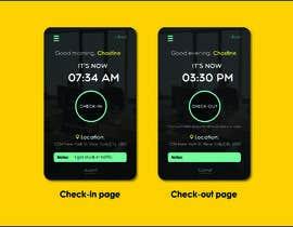 #3 para UI design for mobile app (location-based check-in) por fanchastic101