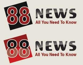 nº 53 pour Logo + Header Backgroun Design for 88news par thetouch