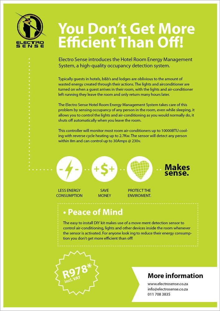 Konkurrenceindlæg #                                        18                                      for                                         Brochure Design for Electro Sense