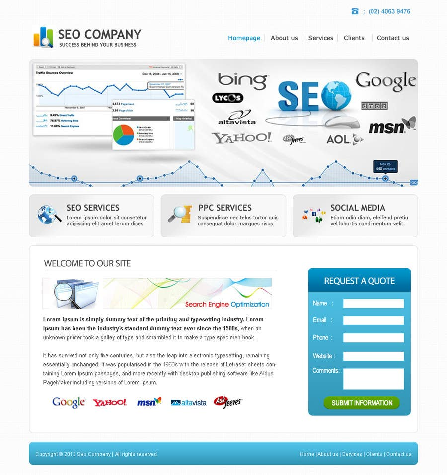 Contest Entry #                                        10                                      for                                         Wordpress Theme Design for Seo Company