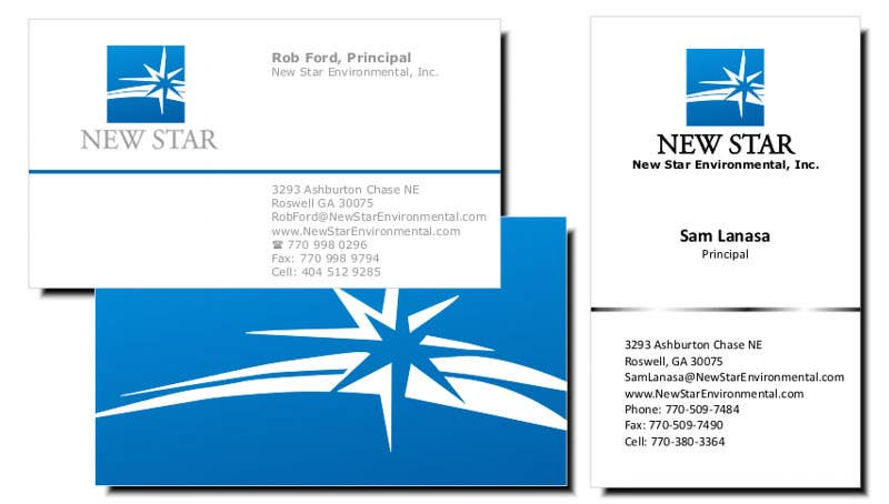Конкурсная заявка №4 для Business Card Design for New Star Environmental