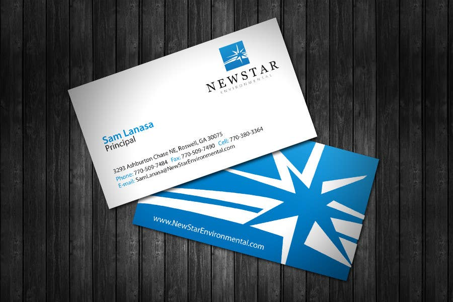 Contest Entry #                                        11                                      for                                         Business Card Design for New Star Environmental