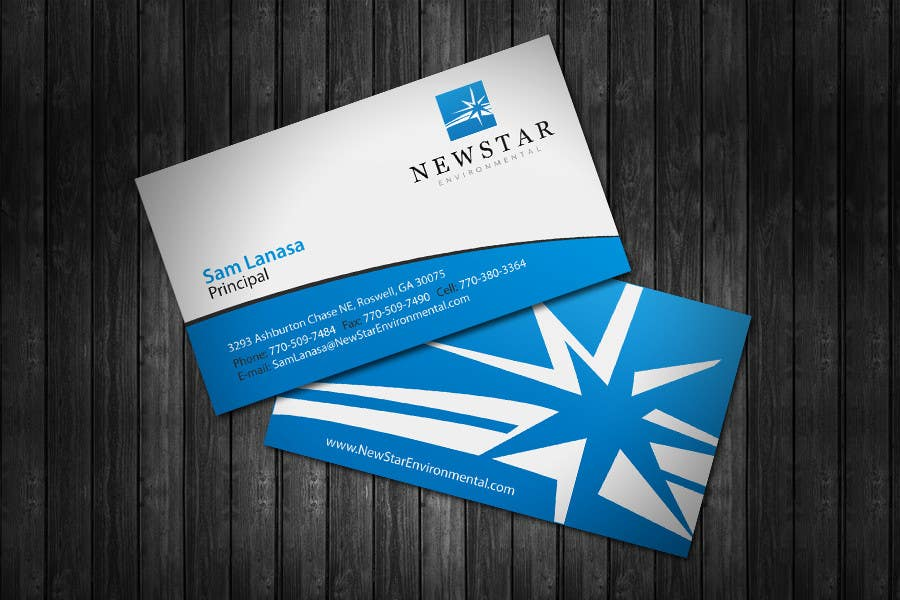 Proposition n°20 du concours Business Card Design for New Star Environmental