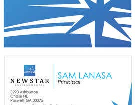 #90 para Business Card Design for New Star Environmental de eliespinas