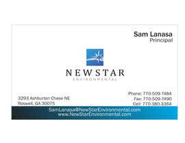 ulogo tarafından Business Card Design for New Star Environmental için no 91