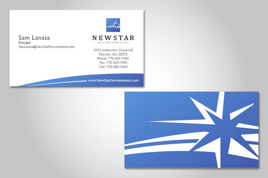 Proposition n°82 du concours Business Card Design for New Star Environmental