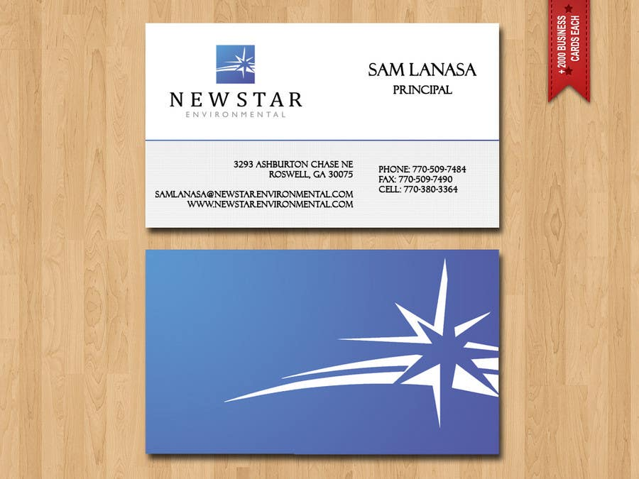 Proposition n°74 du concours Business Card Design for New Star Environmental