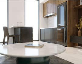 #51 for living room with small kitchen design by cknamkoi