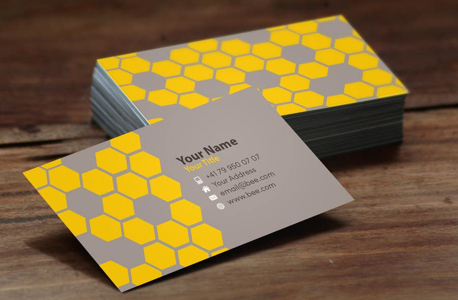 Entry 32 by angelacini for design some business cards for for Bee business cards