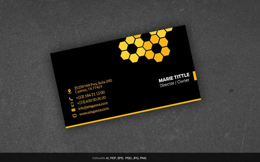 Lovely bee business cards contemporary business card for Bee business cards