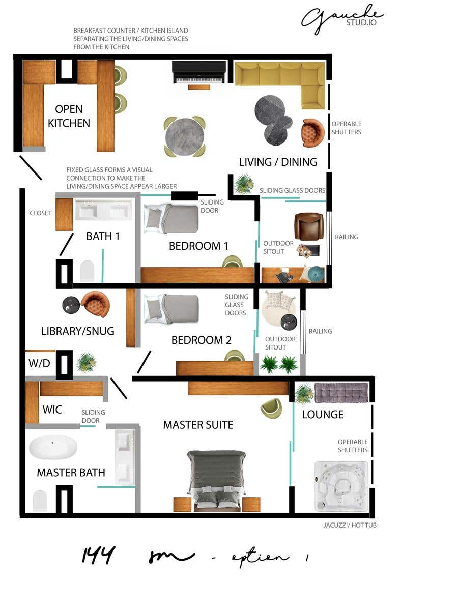 Kilpailutyö #79 kilpailussa 144sqm Apartment