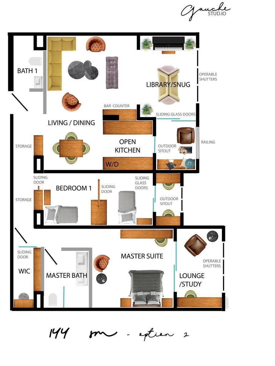 Kilpailutyö #99 kilpailussa 144sqm Apartment