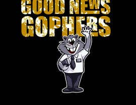#44 for Make this Gopher a Missionary - T-Shirt Logo af RibonEliass