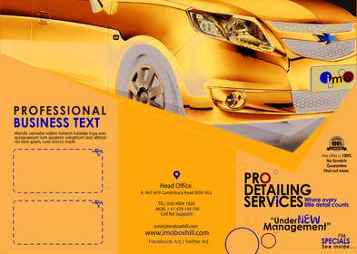 Graphic Design Contest Entry #4 for Brochure Design for Professional Car Detailing Service