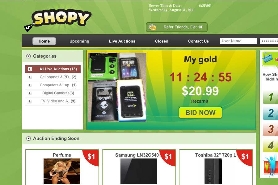 Wettbewerbs Eintrag #74 für Logo Design for Shopy.com