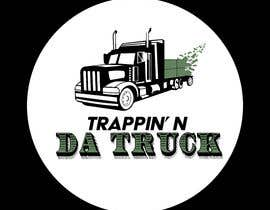 #14 for Trappin' N DaTruck—- description is...Semi truck pulling a flatbed trailer with stacks of money on the back... I want the money to look as if it's flying off the trailer by joec184