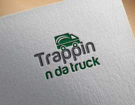 #19 for Trappin' N DaTruck—- description is...Semi truck pulling a flatbed trailer with stacks of money on the back... I want the money to look as if it's flying off the trailer by mdriponali