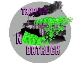 #20 for Trappin' N DaTruck—- description is...Semi truck pulling a flatbed trailer with stacks of money on the back... I want the money to look as if it's flying off the trailer by chriterbear