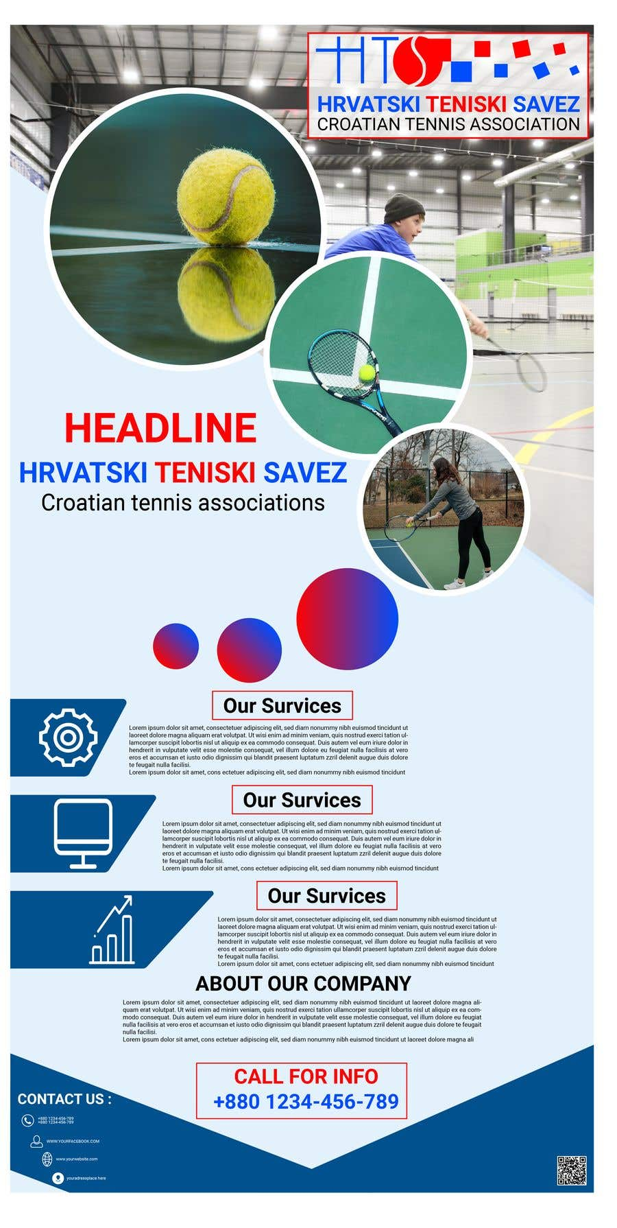 Proposition n°25 du concours Roll up with sponsors for Croatian Tennis Association
