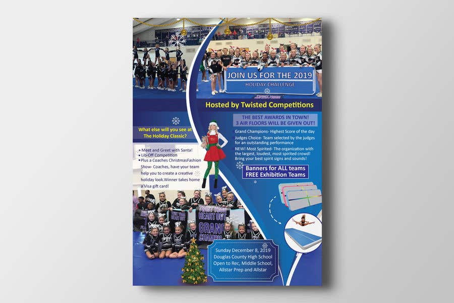 Proposition n°                                        80                                      du concours                                         Christmas Cheer Event Flyer