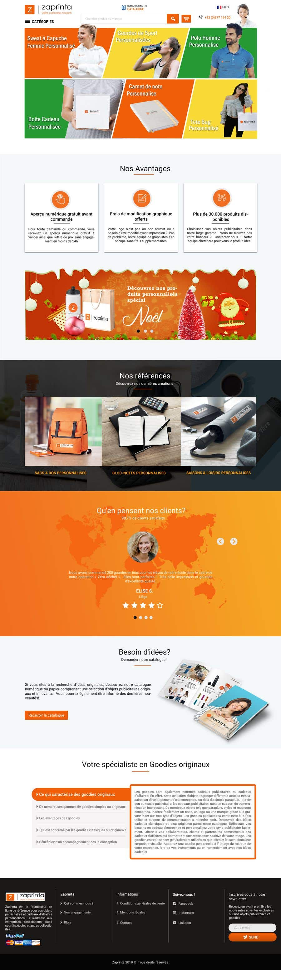 Contest Entry #80 for E-commerce homepage webdesign
