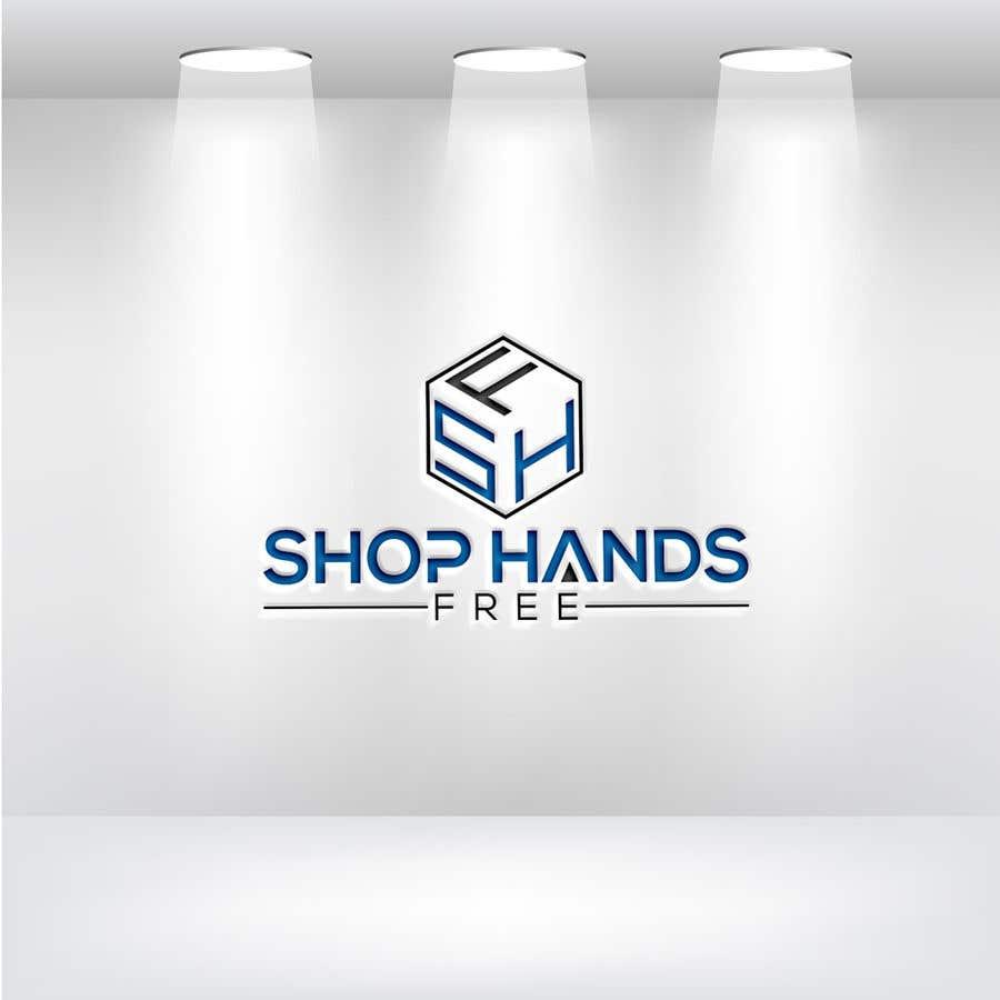 Penyertaan Peraduan #142 untuk Shop Hands Free logo