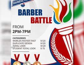 Nro 31 kilpailuun event flyer barber battle käyttäjältä satishandsurabhi