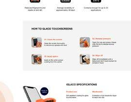 #7 untuk Design a landing page to sell one product: oleophobic touchscreen coating oleh valentinali