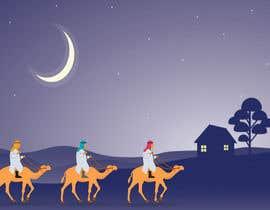 nº 3 pour Illustration of three wise men on camels par shahabshah99