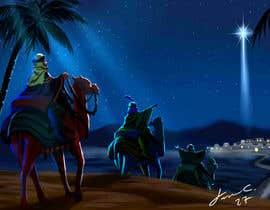 nº 19 pour Illustration of three wise men on camels par jasongcorre