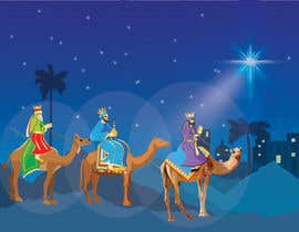 nº 21 pour Illustration of three wise men on camels par SondipBala