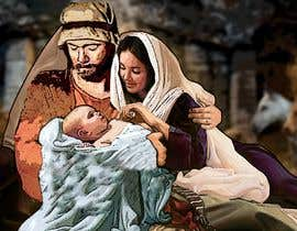 #5 for Illustration of Nativity scene with three faces (portrait work) af marianayepez