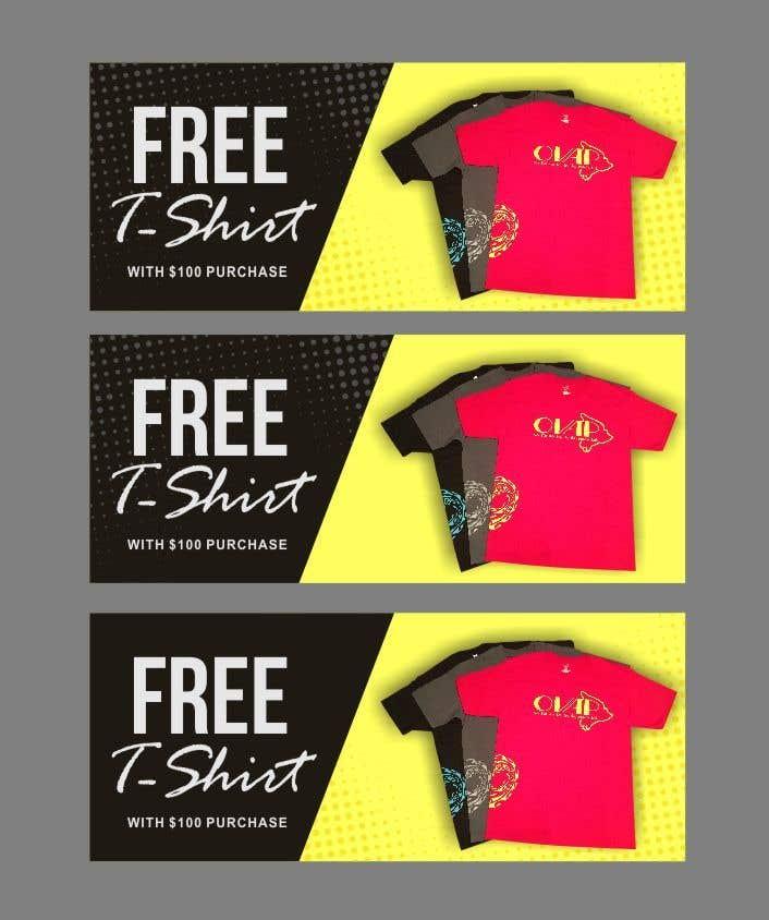 Kilpailutyö #84 kilpailussa Free T-Shirt banner