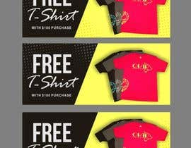 #84 for Free T-Shirt banner by ConceptGRAPHIC