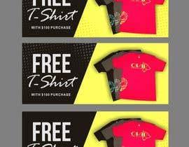 #84 cho Free T-Shirt banner bởi ConceptGRAPHIC