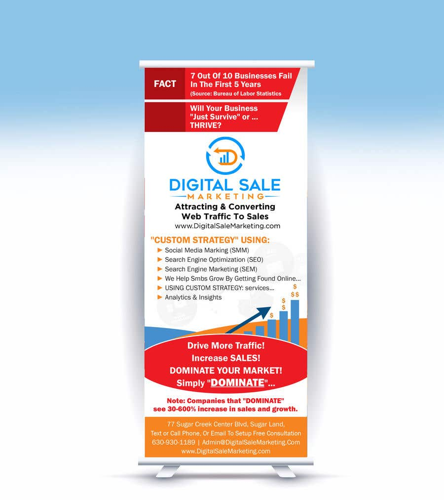 Proposition n°85 du concours Pull Up Banner Design For Digital Marketing Agency