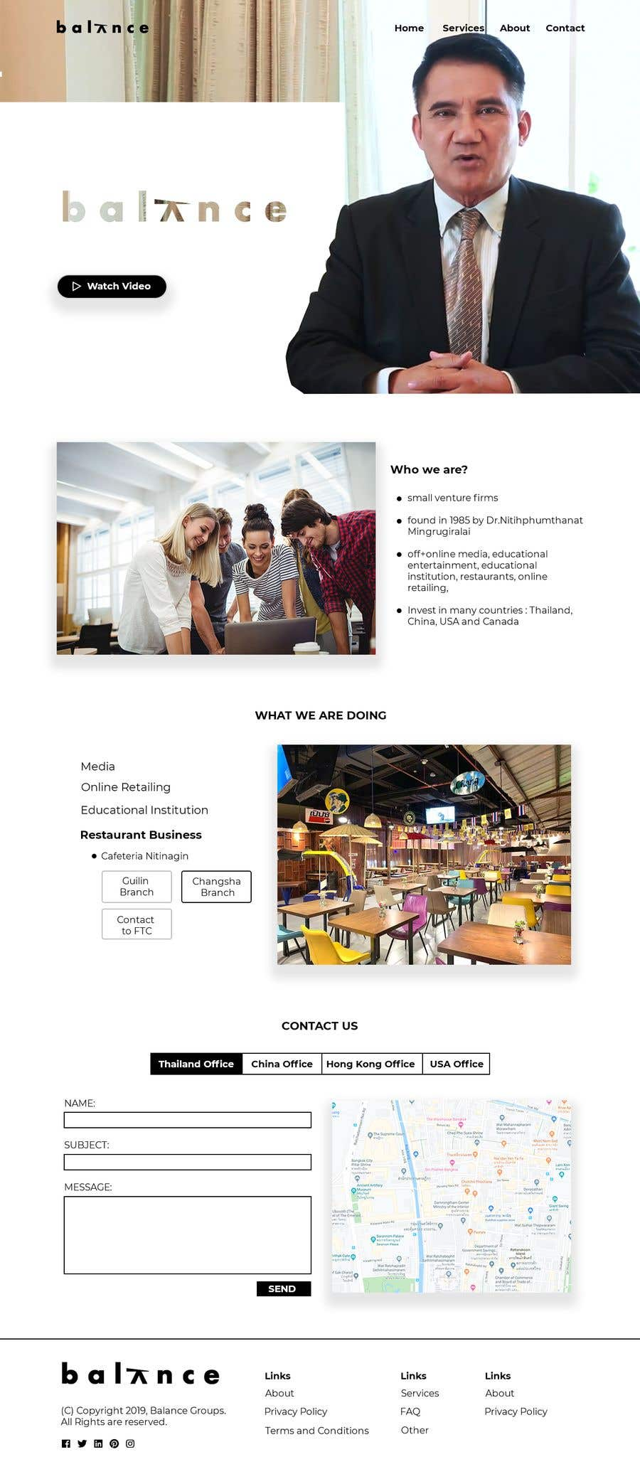 """Konkurrenceindlæg #                                        1                                      for                                         Design me a front page of a Corporate Website """"Balance"""". Winner get a 400$ whole project!"""