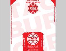 Nro 25 kilpailuun Taco Burger Wrapper Design käyttäjältä DanielMFX