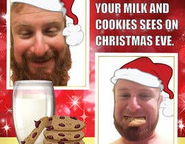#14 cho I'd like a Santa hat photo shopped on both pictures of the guy and then combined together with the text shown on the first picture. This will be a Christmas card so feel free to add other Christmas-like images like lights around the photo...etc. bởi Lken10