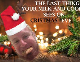 #11 for I'd like a Santa hat photo shopped on both pictures of the guy and then combined together with the text shown on the first picture. This will be a Christmas card so feel free to add other Christmas-like images like lights around the photo...etc. by abaraf59